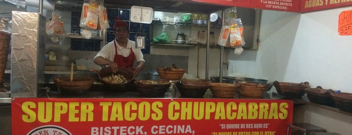 Super Tacos Chupacabras is one of CDMX comida.