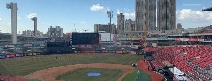 Suwon kt wiz Park is one of KBO Baseball Stadiums for Triple play badge.