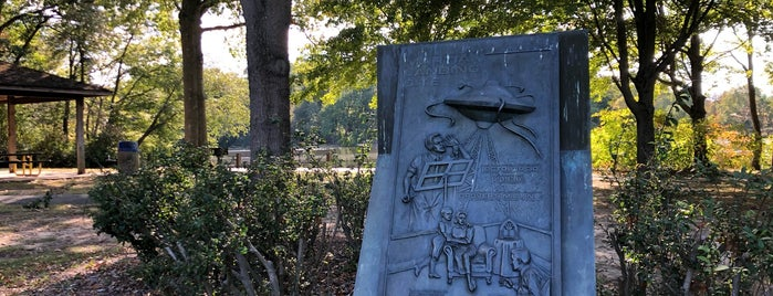 War of the Worlds Monument is one of CBS Sunday Morning 3.