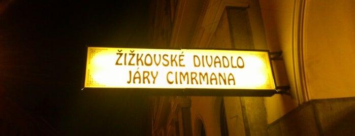 Žižkovské divadlo Járy Cimrmana is one of praha umělecká / artistic prague.