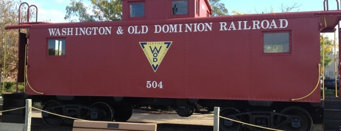 W&OD Herndon Caboose is one of Lieux qui ont plu à Jared.