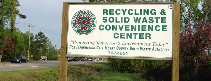 Horry County Recycle Center is one of Tempat yang Disukai Jason.
