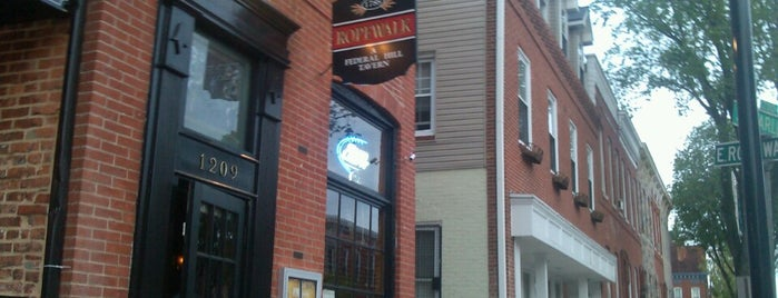 Ropewalk Tavern is one of Baltimore Sun's 50 Best Bars (2013).