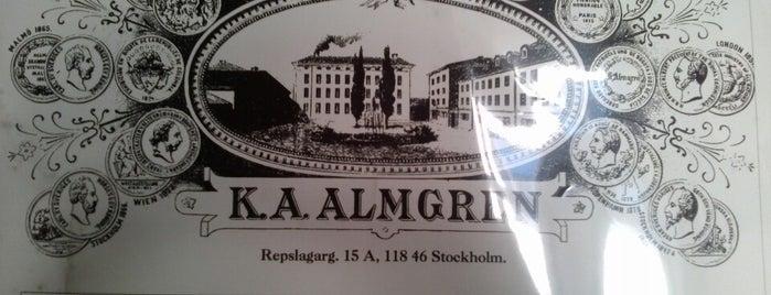 K. A. Almgrens sidenväveri och museum is one of Stockholm.