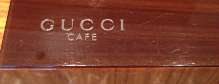 GUCCI CAFE is one of Japan.