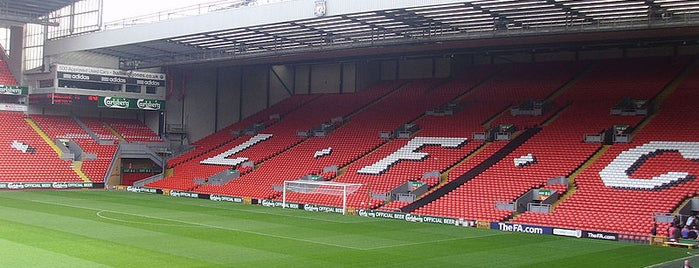 Anfield is one of Stadiums.
