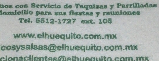 El Huequito is one of Comida mexicana.
