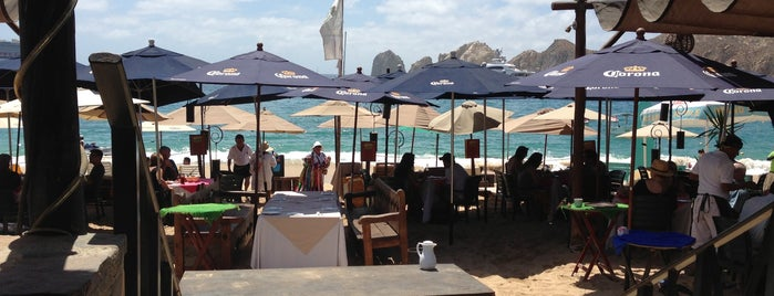 Medano Beach Club is one of Culinary Cabo..