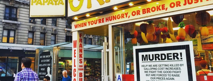 Gray's Papaya is one of NYC: Fast Eats & Drinks, Food Shops, Cafés.
