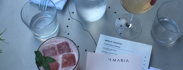 De Maria is one of This Is Fancy: Sit + Sip.