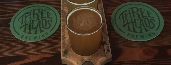 Three Heads Brewing is one of Upstate.