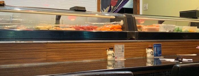 Akami Sushi is one of สถานที่ที่ Cindy ถูกใจ.