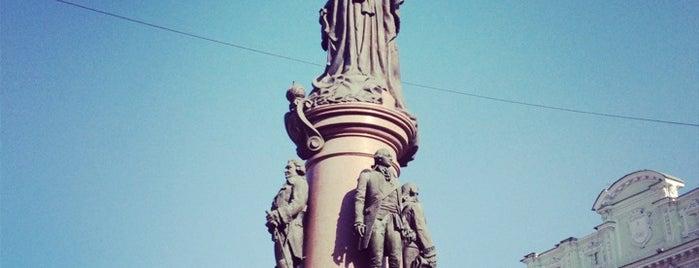 Памятник основателям Одессы (Екатерине ІІ Великой, де Рибасу, де Волану, Потемкину, Зубову) is one of Gespeicherte Orte von Катерина.