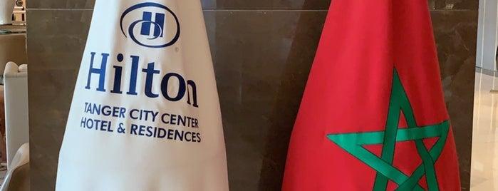 Hilton Tanger City Center Hotel & Residences is one of Lieux sauvegardés par Queen.