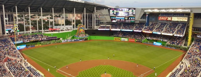 Marlins Park is one of sports arenas and stadiums.