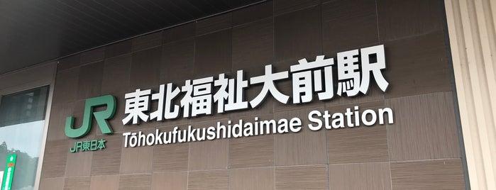 Tōhokufukushidaimae Station is one of JR 미나미토호쿠지방역 (JR 南東北地方の駅).