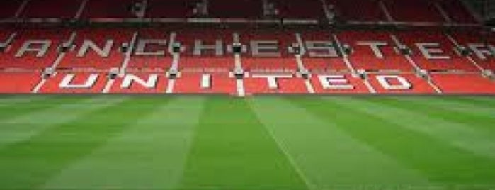 Old Trafford is one of футбольное.
