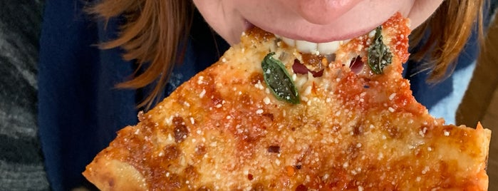 F&F Pizzeria is one of NYC Pizza To-Dos and Dones.