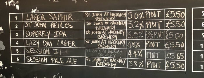 St John at Hackney Brewery is one of Frankie Friendly.