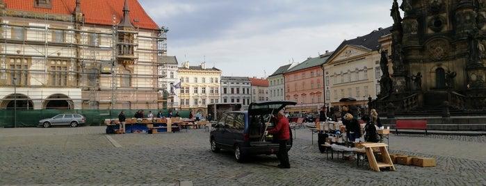 Hanácký farmářský trh is one of Olomouc.