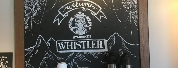 Starbucks is one of Whistler, BC.