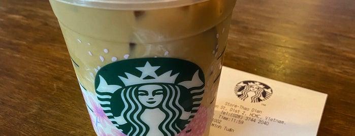 Starbucks is one of Orte, die Marcus gefallen.