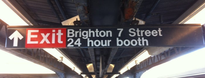 MTA Subway - Brighton Beach (B/Q) is one of Big Apple (NY, United States).
