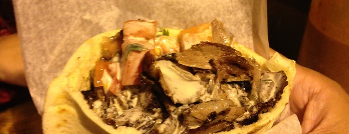 Mamoun's Falafel is one of Vegetarian NYC.