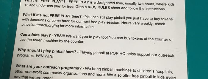 POP HQ - Pinball Outreach Project is one of Elenaさんのお気に入りスポット.