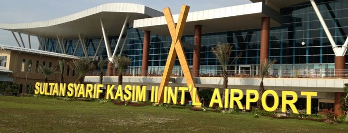 Sultan Syarif Kasim II International Airport (PKU) is one of Airports.