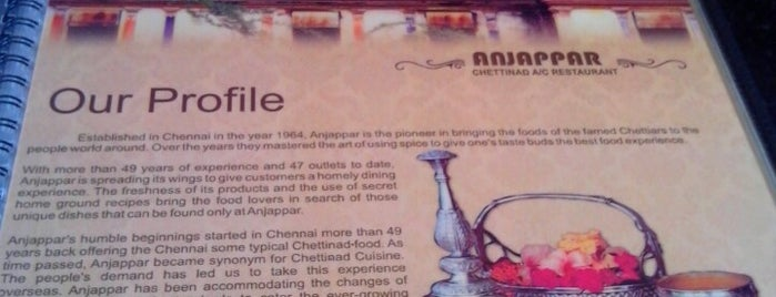 Anjappar Chettinad is one of indisch.