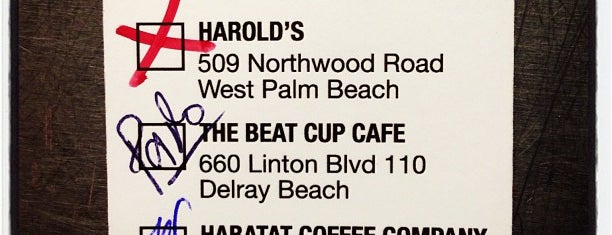 The Beat Cup Cafe is one of Florida Restaurants.