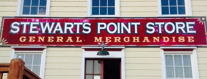 Stewarts Point Store is one of Go north Sept 2017.
