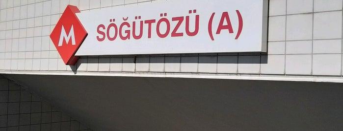 Söğütözü Metro İstasyonu (M2) is one of Ankara.