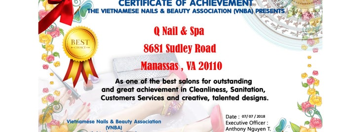 Q Nail & Spa is one of Lieux qui ont plu à Isabella.