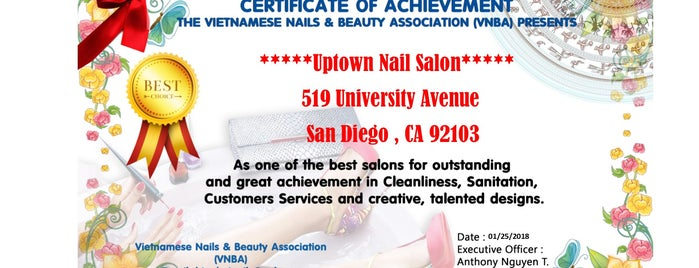 Uptown Nail Salon is one of Locais curtidos por Isabella.