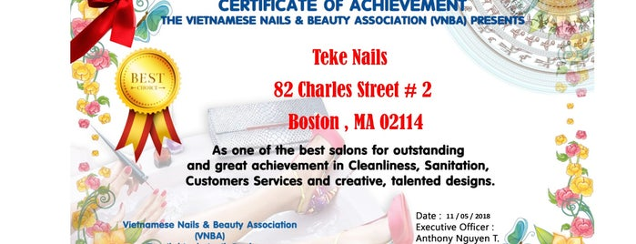 Teke's Nails is one of Boston.