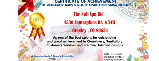 The Nail Spa is one of Thomas's Liked Places.