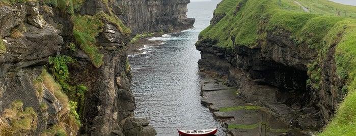 Gjógv is one of Faroe Island.