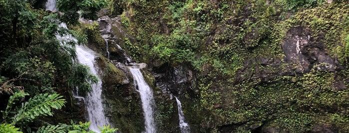 Waikani Falls is one of Maui.