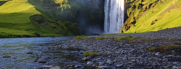 Skógafoss is one of ísland.