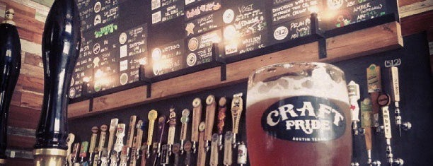 Craft Pride is one of Craft Beer Bars on Rainey Street in Austin, TX.