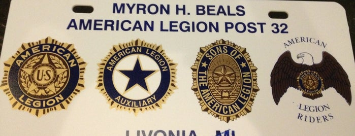American Legion Post 32 is one of American Legion Posts Visited.