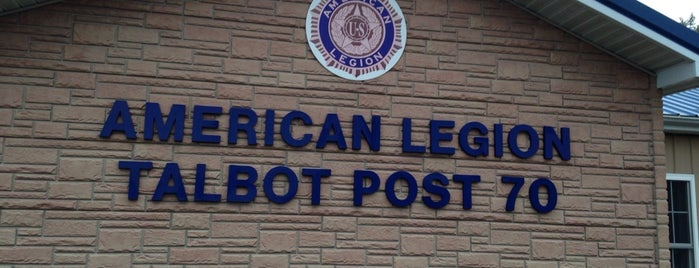 American Legion Post 70 is one of American Legion Posts Visited.