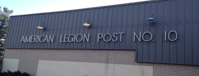 American Legion Post 10 is one of American Legion Posts Visited.