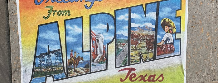 Alpine, TX is one of Dianaさんのお気に入りスポット.