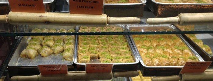 Güllüoğlu Baklava & Cafe is one of USA NYC MAN Midtown East.