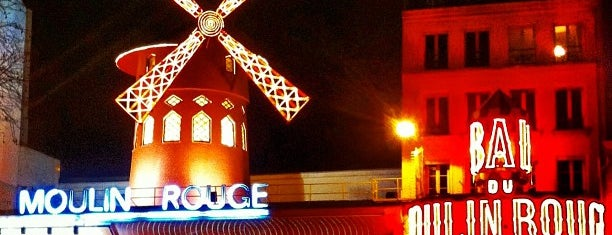 Moulin Rouge is one of Paris: husband's hometown ♥.