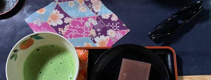 七條甘春堂 且坐喫茶 is one of 和菓子.