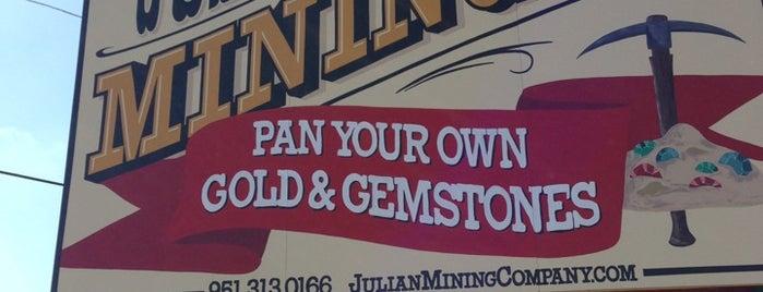 Julian Mining Company is one of near warner springs.